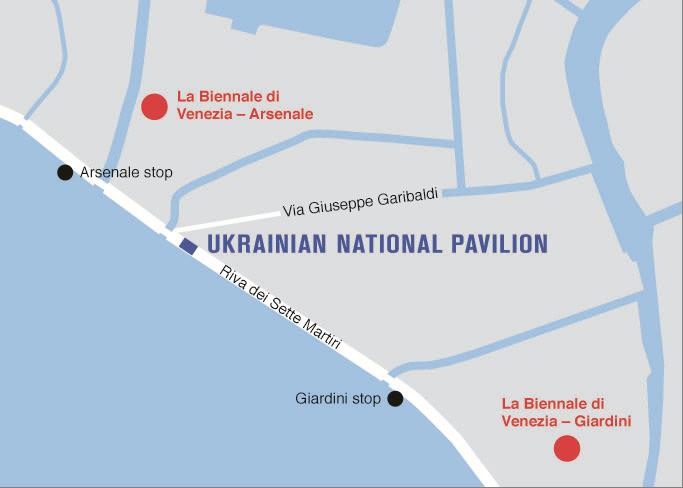 Hope Pavilion Of Ukraine At The Th International Art - Venice biennale 2016 map